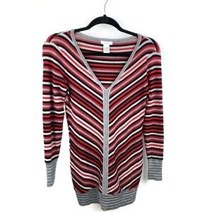 Cache Striped Bodycon Tunic Sweater Dress Small